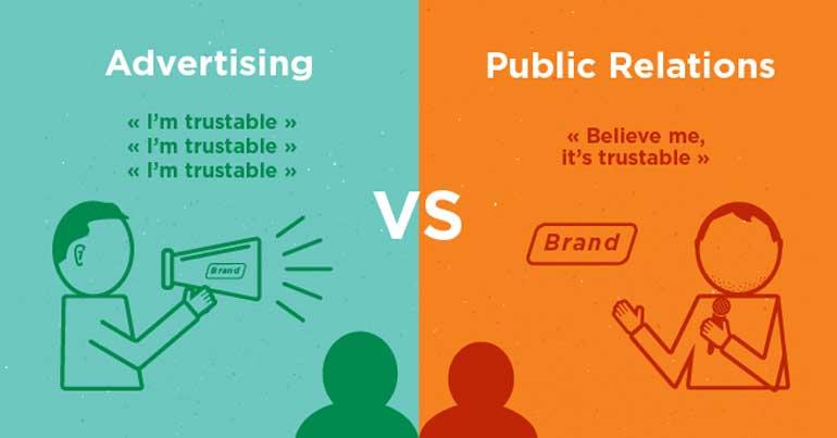 روابط عمومی در مقابل تبلیغات