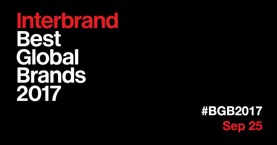۱۰۰ برند برتر سال ۲۰۱۷ میلادی توسط موسسه معتبر اینتر برند معرفی شد