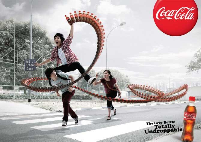تبلیغ شیشه جدید کوکاکولا