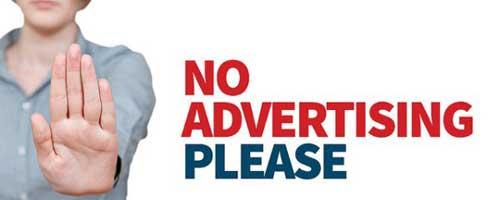 توقف تبلیغات