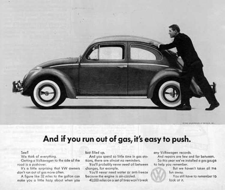 تبلیغ نوستالژیک و تاثیرگذار فولکس واگن که از کمپین Think Small منتج شد.