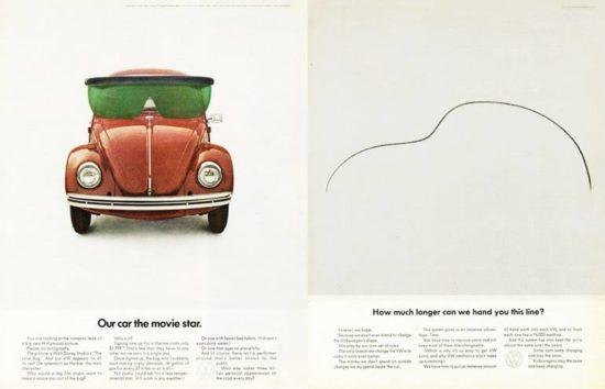 این تبلیغات نیز در ادامه کارهای خلاقانه آقای هلموت کرون و همکارانش برای فولکس واگن بود.