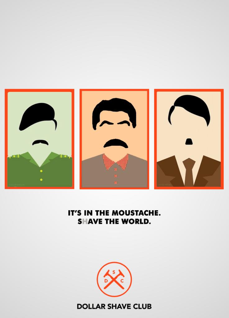 برای تبلیغ برند Dollar که در کسب و کار آرایش و پیرایش است، با استفاده از بازی با کلمه shave و save اینگونه القا می کند که اصلاح و تراشیدن سبیل موجب نجات جهان میشود.