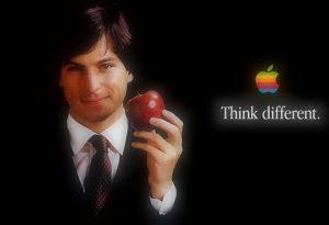 استیو جابز و تصویری از سیب معروفش