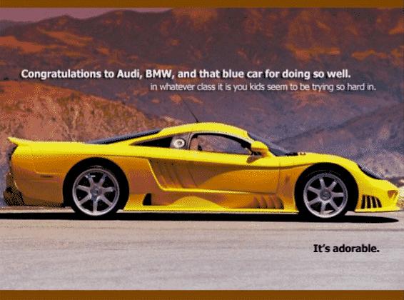 تبلیغ خلاقانه خودروی مسابقه ای اسلن