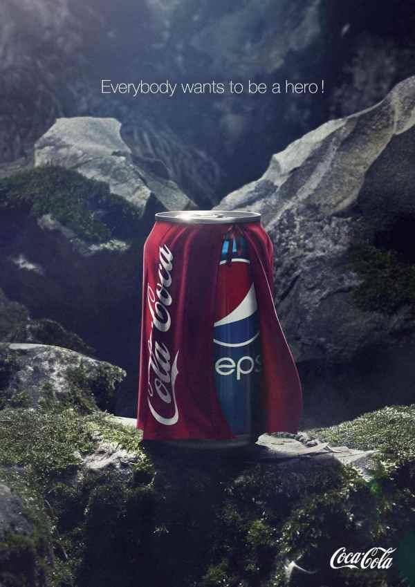 تبلیغ خلاقانه کوکاکولا علیه پپسی