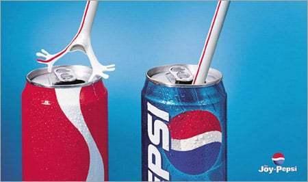 تبلیغ خلاقانه پپسی علیه کوکاکولا